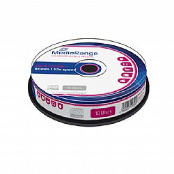 MR214 MediaRange CD-R 80 52x cakebox of 10pcs