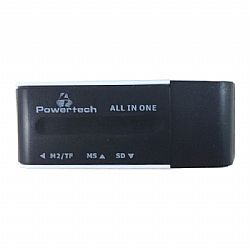 POWERTECH Mini Card Reader, Black