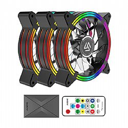 Case Cooler 12cm RGB-Fan x3 kit Alseye HALO 4.0