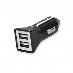 Universal 2 USB car Charger 5V 3.1A μαύρο