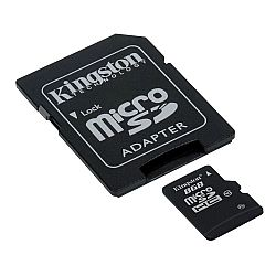 Κάρτα Μνήμης Kingston Micro SDHC 8GB Class 10 + Adapter