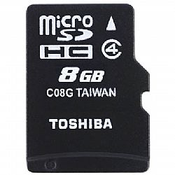 Κάρτα μνήμης TOS MICROSD 8GB HS CLASS 4 WITH ADAPTER